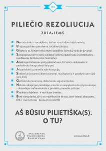 PILIECIO REZOLIUCIJA